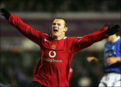 Wayne Rooney celebrates his goal