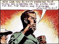Picture from original Dan Dare comic strip