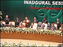 Leaders of SAARC nations at the inaugural session in Dhaka in November