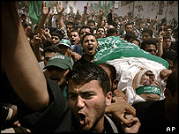 Funeral for Hamas militant in Khan Younis