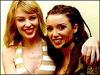 Kylie Minogue (left) and sister Dannii