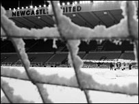 Newcastle's game was one of 17 postponed on Wednesday