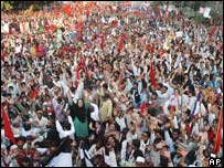 Protestors of Kalabagh Dam in a rally in Karachi