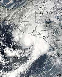 Nasa image of Hurricane Adrian