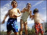 Niños argentinos en vacaciones.