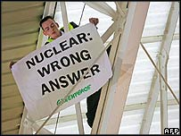 Greenpeace protester
