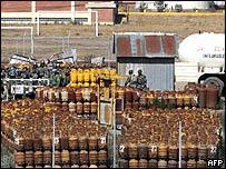 Planta de gas natural cerca de La Paz