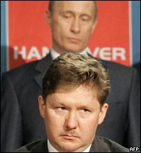 Глава Газпрома Алексей Миллер и президент России Владимир Путин
