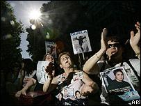 Protesta de familiares de las víctimas del incendio en Cromagnon