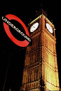Tube sign at Westminster. Picture copyright Transport for London 2005