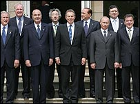Leaders of the G8 countries at Gleneagles this summer