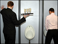 Men in toilets