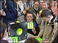 Pupils with an XBox