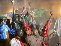 Sudanese protesters in Cairo