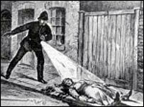 Image of the Jack The Ripper case at the Crime Museum