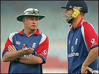 Duncan Fletcher (left) and Andrew Flintoff