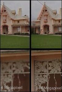 4 megapixel versus 144 megapixel photography