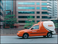 TNT delivery van