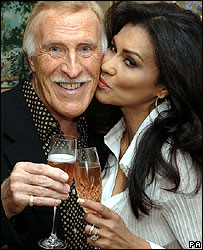 Bruce Forsyth celebrates his CBE with wife Wilnelia