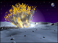 Artist's impression of explosion, Nasa