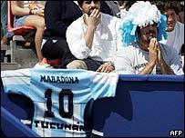 Camiseta de la selecci�n argentina.
