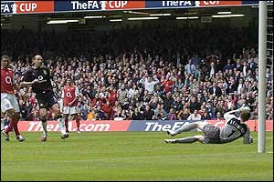 Manchester United's Rio Ferdinand shoots