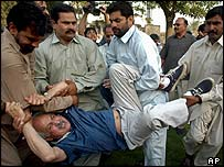 Police detain opposition MP Iqbal Haider in Lahore 14 May 2005