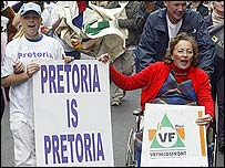 Pro-Pretoria protesters