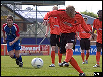 Barry Robson scores in Inverness