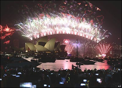 New Year fireworks display in Sydney