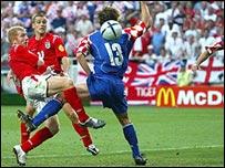 Juego de Inglaterra - Croacia en la Eurocopa de 2004.