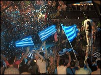 Greek flags greet Helena Paparizou's win