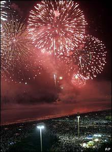 Fireworks in Rio de Janeiro, Brazil