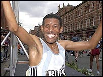 Haile Gebreselassie  won his first competitive race for three months