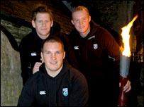 Rhys Thomas, Gethin Jenkins a Martin Williams oedd y rhedwyr cudd eleni