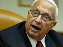 Israeli Prime Minister Ariel Sharon holds his weekly cabinet meeting, 1 January 2006