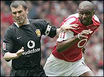 Roy Keane and Patrick Vieira locked horns once again in Cardiff