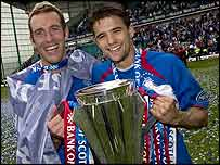 Rangers celebrate their title triumph