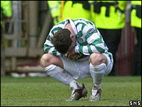 Alan Thompson is devastated after Celtic's title loss