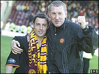 Goalscorer Scott McDonald and manager Terry Butcher