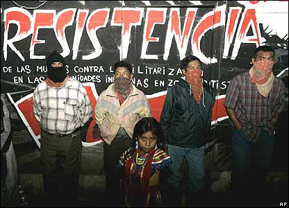 Zapatista rebels in La Garrucha