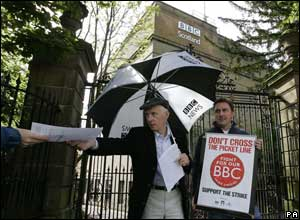 BBC Scotland correspondents Colin Blane (left) and John Morrison