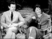 Harper Lee with director Alan Pakula