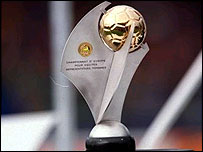 The UEFA Women's European Championship Trophy