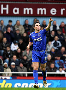 Frank Lampard opens the scoring for Chelsea