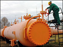 A gas pipeline in Hungary