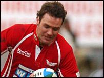 Scarlets wing Mark Jones scored a fine solo try