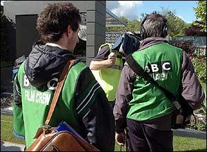 BBC film crew at Chelsea Flower Show