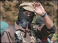 Zapatista leader Subcomandante Marcos