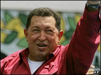 El presidente de Venezuela Hugo Chávez
